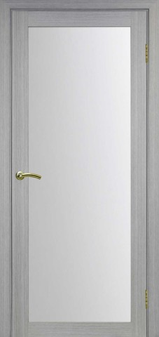 Дверь Optima Porte Турин 501.2, стекло матовое, цвет дуб серый, остекленная