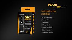 Карманный фонарик Fenix PD25 Черный