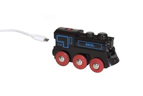 BRIO 33599 Подзаряжаемый паровоз с mini USB кабелем