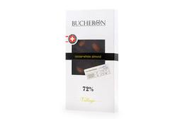 Горький шоколад  с цельным миндалем Bucheron, 100г