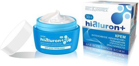 BelKosmex Hialuron+ Крем интенсивное увлажнение + повышение упругости и эластичности 30+ для всех типов кожи 48г
