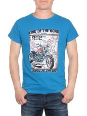 17624-5 футболка мужская, голубая
