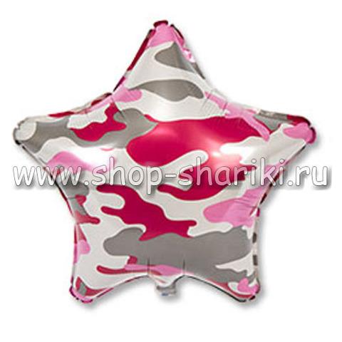 Звезда розовый камуфляж