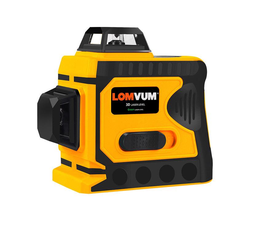 Лазерные уровни LOMVUM Лазерный уровень 360° LOMVUM JZ-416 12 зеленых лучей(верхний горизонт) 7.jpg