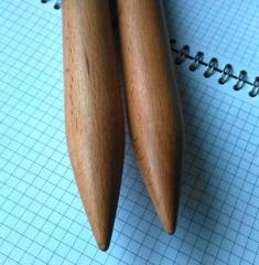 Спицы прямые 25 мм ручной работы 60 см