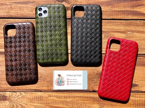 Чехол iPhone 11 Pro Max Leather Bottega case
