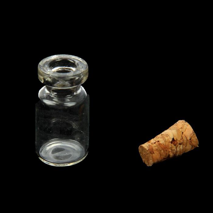Баночка стеклянная мини с пробкой, 1 шт.