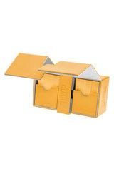 Ultimate Guard - Двойная кожаная янтарная коробочка с отделением для кубиков на 160 карт