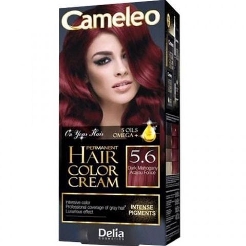Delia Cosmetics Cameleo Крем-краска для волос тон 5.6 темный махагон