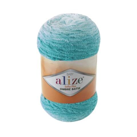 Купить Пряжа Alize Softy Plus Ombre Batik Цвет 7281 Бирюзовый | Интернет-магазин пряжи «Пряха»