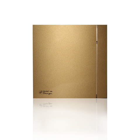 Вентилятор накладной S&P Silent 200 CHZ Design 3C Gold (таймер, датчик влажности)