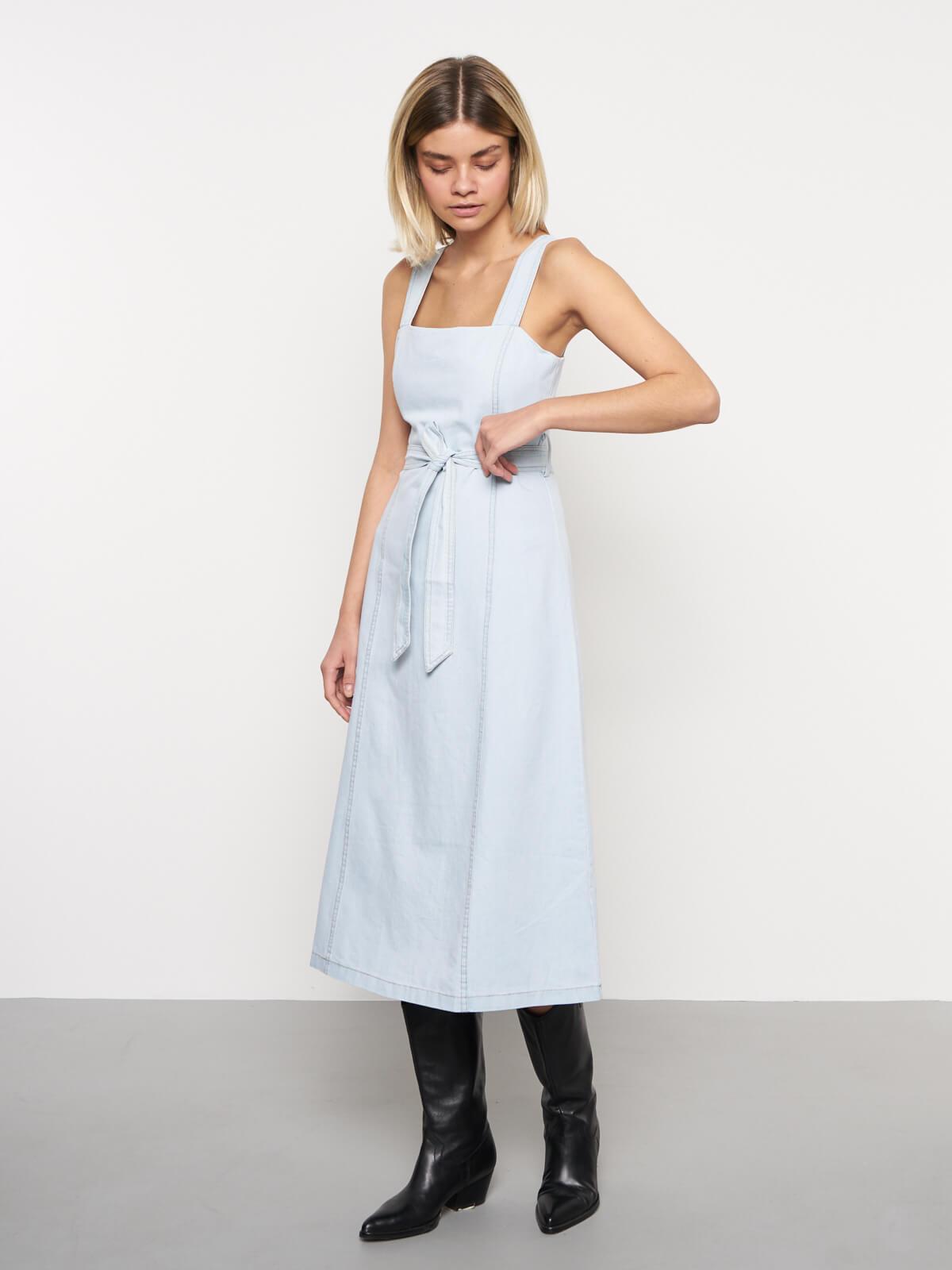 Платье-сарафан джинсовое