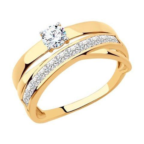 018519 - Кольцо из золота с фианитами
