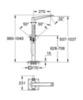 Смеситель для ванны напольный Grohe Allure Brilliant 23119 000 схема