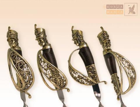 шампуры Гусарские из мельхиора