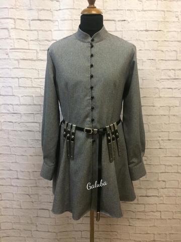 Бешмет Традиционный , серый.