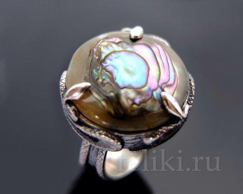 кольцо с перламутром кс-7186