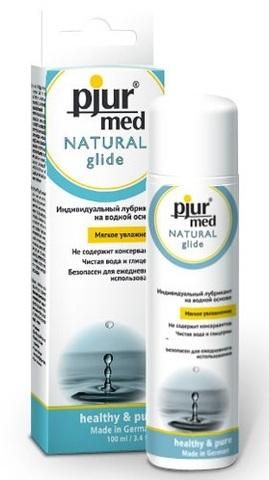 Нейтральный лубрикант на водной основе pjur MED Natural glide - 100 мл.