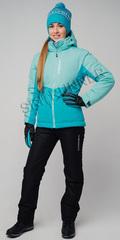 Женский утеплённый прогулочный лыжный костюм Nordski Montana Sky-Blue