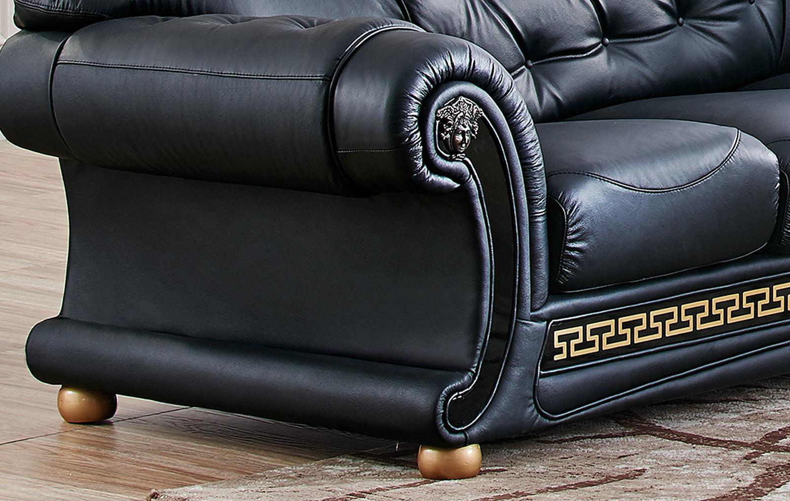 Диван ESF Versace угловой черный угол правый