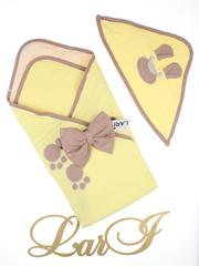 Конверт плед Топтыжка (желтый/капучино)