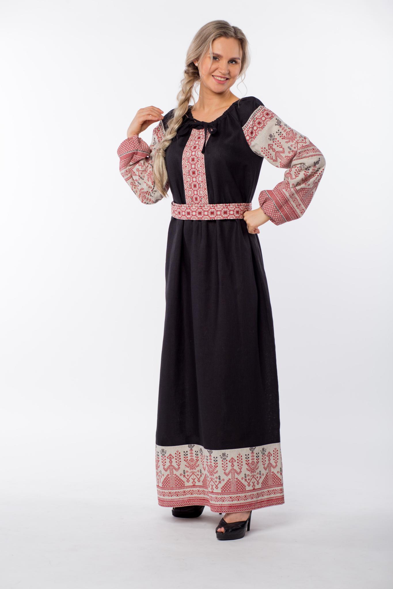 Платье Чистое поле вид сбоку