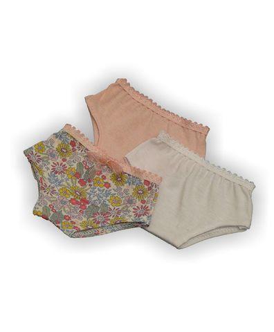 Трусы комплект 3 шт - Розовый. Одежда для кукол, пупсов и мягких игрушек.