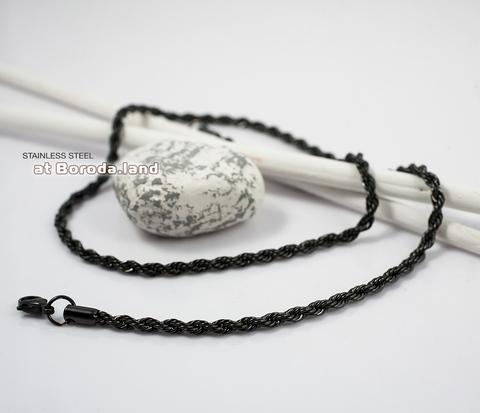 PM182 Стальная цепочка черного цвета (55 см)