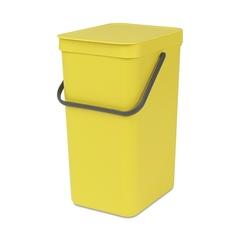 Ведро для мусора Brabantia Sort&Go желтое 16л