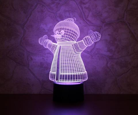 3D лампа Снеговик