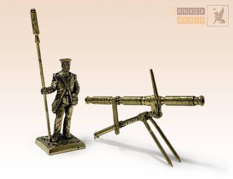 фигурка Артиллерист Британской армии с ракетной установкой