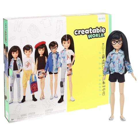 Creatable World Кукла с Темными Прямыми Волосами