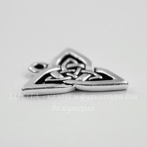 """Подвеска TierraCast """"Кельтская триада"""" (цвет-античное серебро) 21х20 мм"""
