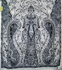 Шарф черно-белых оттенков 2 в Русском стиле фото 2