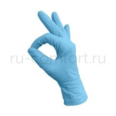 Перчатки одноразовые нитриловые голубые, 200 шт/уп