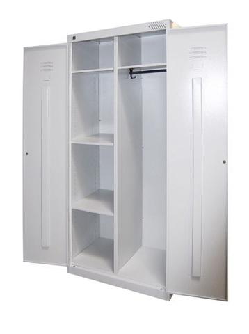 Шкаф напольный металлический с дверками и двумя секциями ШМ-У 22