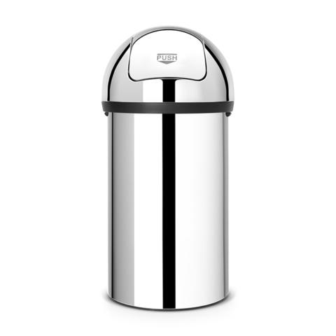 Мусорный бак Push Bin (60 л), Полированная сталь, арт. 402623 - фото 1