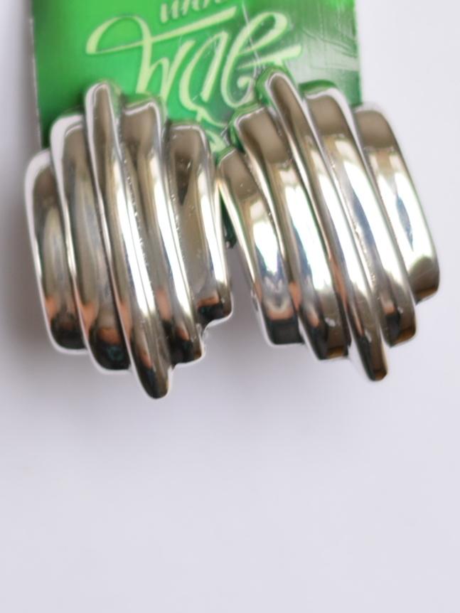 Пять полосок (серьги из серебра)