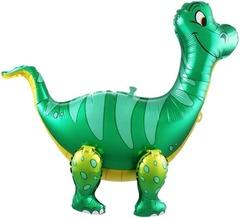 Шар (25''/64 см) Ходячая Фигура, Динозавр Брахиозавр, Зеленый, в упаковке 1 шт.