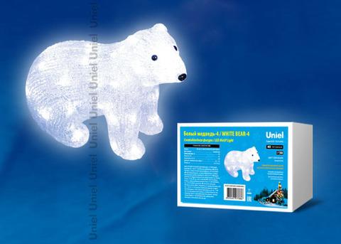 ULD-M3125-040/STA WHITE IP20 WHITE BEAR-4 Фигура светодиодная «Белый медведь-4», 40 светодиодов, размер 31*15*25 см, цвет свечения-белый, IP20