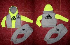 Детский спортивный костюм тройка Адидас 3-х нитка с начосом
