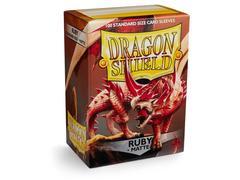 Dragon Shield - Рубиновые матовые протекторы 100 штук