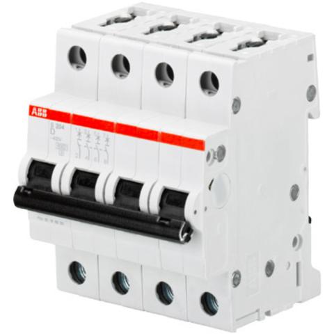 Автоматический выключатель 4-полюсный 50 А, тип D, 10 кА S204M D50. ABB. 2CDS274001R0501