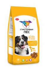 Корм для собак «Счастливый пес» крупных пород от 1 года до 7 лет с курицей