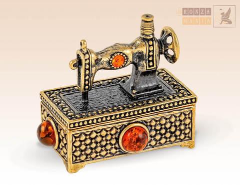 фигурка Швейная машинка - Шкатулка для иголок