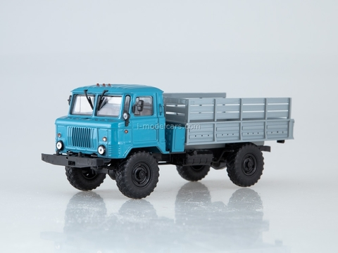 GAZ-66 flatbed truck blue-gray 1:43 AutoHistory
