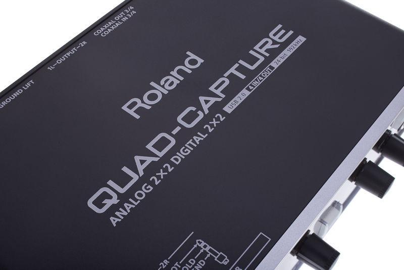how to connect roland quad capture
