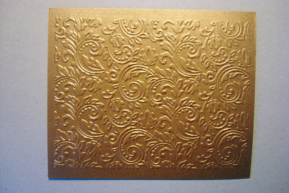Бумага с тиснением Узоры, коричневый