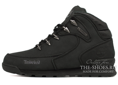 Мужские Ботинки Timberland Euro Sprint Waterproof Black С Мехом