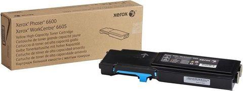 Тонер-картридж голубой Xerox Phaser 6600 / WC6605 (106R02249). Ресурс 2000 страниц